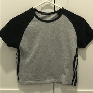 Brandy Melville Tee With Strips On The Side